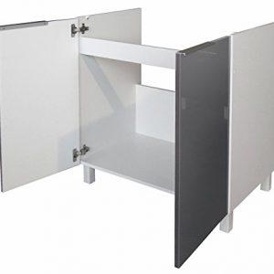 Berlenus-CE8BG-Mueble-bajo-de-cocina-bajo-fregadero-80-cm-color-gris-brillante-0