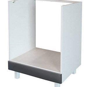 Berlenus-CF6BG-Mueble-bajo-de-cocina-para-el-horno-60-cm-color-gris-brillante-0
