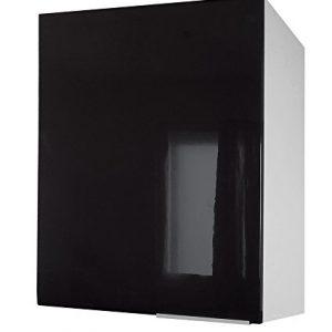 Berlenus-CP6HN-Mueble-bajo-de-cocina-con-1-puerta-60-cm-color-negro-brillante-0